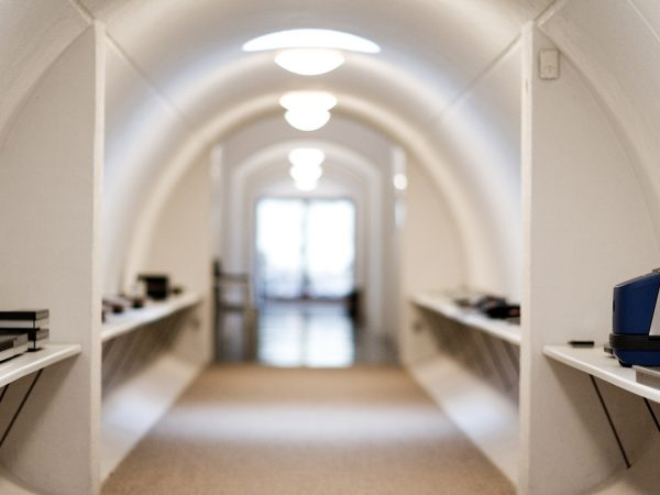 Hallways and tunnels of the legendary danish design studio Hejlskov Denmark Timothy Jacob Jensen Studios