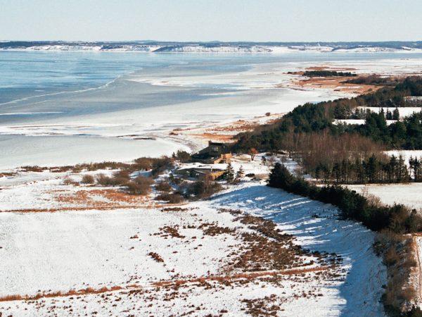 The legendary danish design studio seen from the air on a winter day Hejlskov Denmark