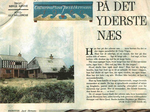 Timothy Jacob Jensen Studios old newspaper article Hejlskov Denmark