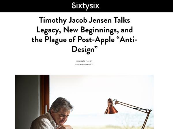 Timothy Jacob Jensen Sixty Six magazine 2019 press feature