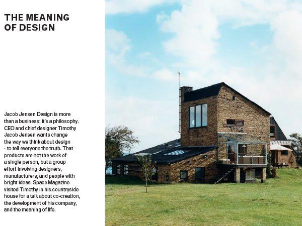 Timothy Jacob Jensen Studios Space magazine press feature Hejlskov Denmark