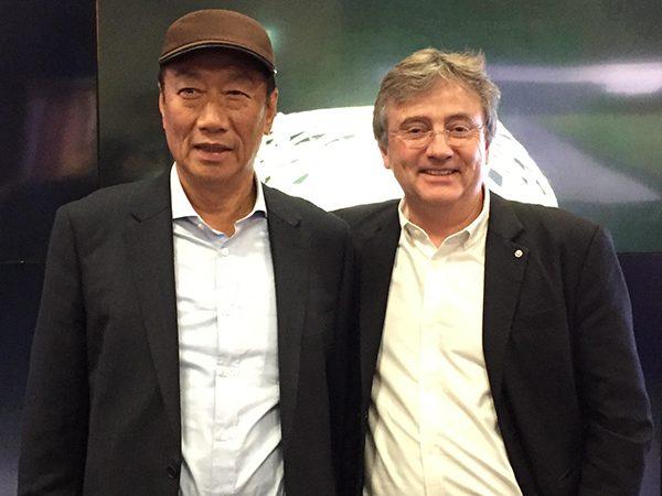Terry Gou of Foxconn and Timothy Jacob Jensen