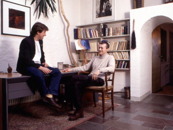 Timothy and Nigel in the old conference room, design studio Hejlskov Denmark