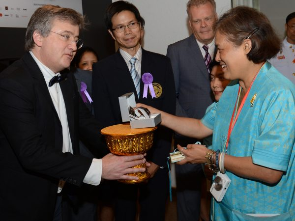Timothy Jacob Jensen and H. R. H. Princess Maha Chakri Sirindhorn of Thailand