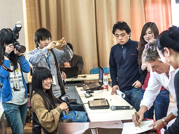Timothy Jacob Jensen teaching at Shanghai Institute of Visual Arts